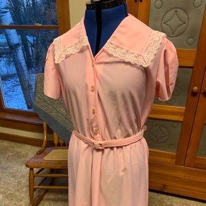 Vintage pink dress, size 20